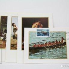Sellos: TARJETAS MÁXIMA AÑO 1976 - XXI JUEGOS OLÍMPICOS EN MONTREAL - EDIFIL 2340 / 2343. Lote 116103459