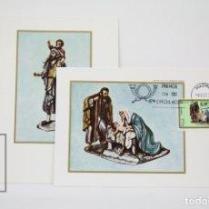 Sellos: TARJETAS MÁXIMA AÑO 1976 - NAVIDAD. CONGRESO INTERNACIONAL DE BELENISTAS - EDIFIL 2368 / 2369. Lote 116103526