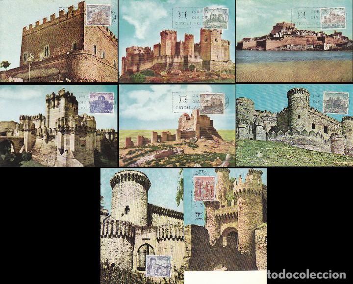 EDIFIL 1809/16, CASTILLOS 1967, TARJETA MAXIMA DE PRIMER DIA DE 11-8-1967, SERIE COMPLETA (Sellos - España - Tarjetas Máximas )