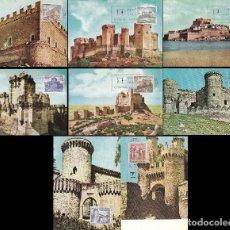 Sellos: EDIFIL 1809/16, CASTILLOS 1967, TARJETA MAXIMA DE PRIMER DIA DE 11-8-1967, SERIE COMPLETA. Lote 118371423