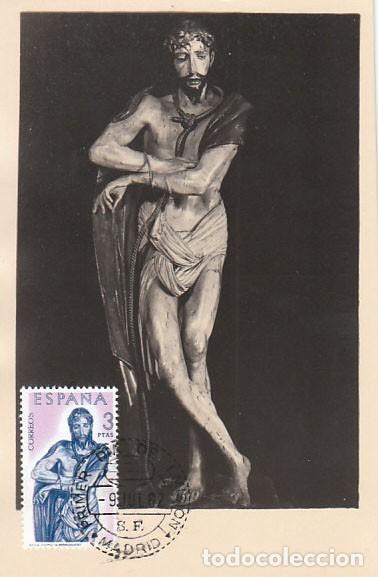 EDIFIL 1442, BERRUGUETE: ECCE HOMO, TARJETA MAXIMA DE 9-7-1962 (Sellos - España - Tarjetas Máximas )