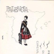 Sellos: TRAJES TIPICOS ESPAÑOLES 1970 TRAJE DE PALENCIA (EDIFIL 1949) EN TARJETA MAXIMA PRIMER DIA DE ALFIL.. Lote 125821875