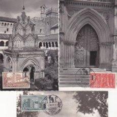 Sellos: RELIGION MONASTERIO DE NUESTRA SEÑORA DE GUADALUPE 1959 (EDIFIL 1250/52) EN TRES TM PRIMER DIA RARAS. Lote 134178418
