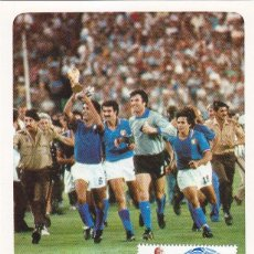 Sellos: FUTBOL ESPAÑA 82 COPA MUNDIAL 1982 (EDIFIL 2663) RARA TM MATASELLOS PARTIDO DE LA FINAL RFA-ITALIA.. Lote 136098986