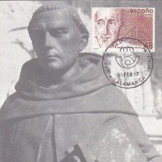 Sellos: RELIGION FRANCISCO DE VITORIA CENTENARIOS 1987 (EDIFIL 2883) EN TM PD SERVICIO FILATELICO SALAMANCA.. Lote 136099498