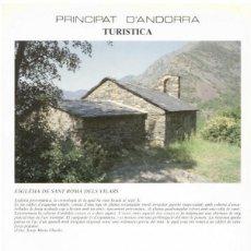 Sellos: PRINCIPAT D´ANDORRA TURÍSTICA 1991 - ESGLÉSIA DE SANT ROMÀ DELS VILARS. Lote 136107738