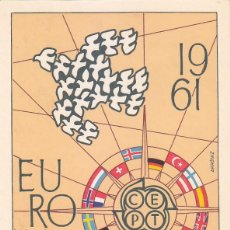Sellos: EUROPA CEPT 1961 (EDIFIL 1371/72) EN TARJETA MAXIMA PRIMER DIA.. Lote 136178558