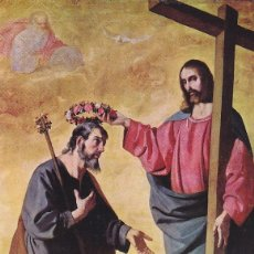 Sellos: RELIGION JESUS CORONANDO A SAN JOSE PINTURA FRANCISCO DE ZURBARAN 1962 (EDIFIL 1421) TM PRIMER DIA.. Lote 136274338