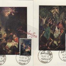 Selos: TARJETA MÁXIMA AÑO 1970 ED 2002/3 - NAVIDAD -MAT GERONA , EXPOSICION FILATÉLICA . Lote 138985254