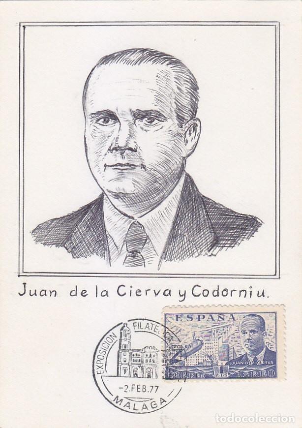 JUAN DE LA CIERVA 1941-1947 (EDIFIL 944) BONITA Y RARA TARJETA MAXIMA ARTESANAL EN ENTERO POSTAL. (Sellos - España - Tarjetas Máximas )