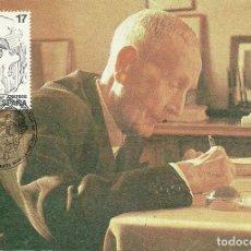 Selos: TARJETA MÁXIMA ESPAÑA DE JOSÉ MARTINEZ RUIZ AZORIN EDIFIL 2855-PERSONAJES,-. Lote 141967390