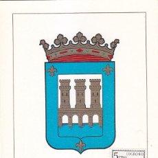 Sellos: ESCUDO DE LOGROÑO 1964 MATASELLOS PROVINCIA (EDIFIL 1555) EN TARJETA MAXIMA PRIMER DIA.. Lote 151630810