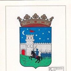 Sellos: ESCUDO DE GUADALAJARA 1963 MATASELLOS PROVINCIA (EDIFIL 1489) EN TARJETA MAXIMA PRIMER DIA.. Lote 151633170