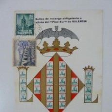 Selos: TARJETA. PLAN SUR DE VALENCIA. 1966. Lote 152954814