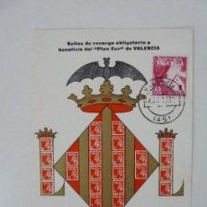 Selos: TARJETA. PLAN SUR DE VALENCIA.1964. Lote 152955546
