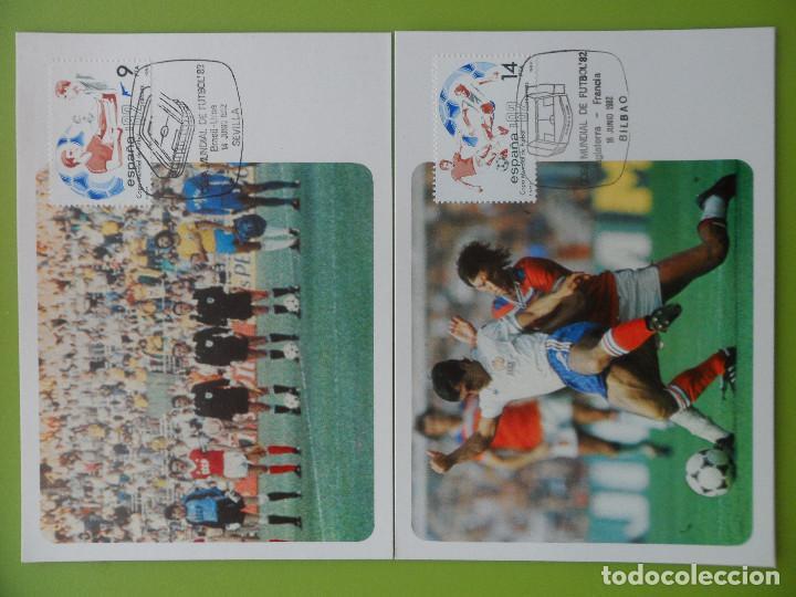 1982-TARJETAS MAXIMAS-SERIE COMPLETA-COPA MUNDIAL DE FUTBOL-ESPAÑA 82-(4 TARJETAS) (Sellos - España - Tarjetas Máximas )