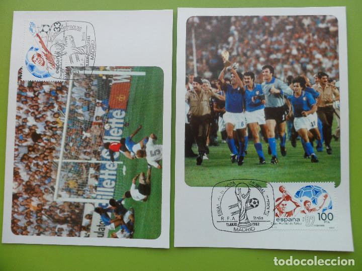 Sellos: 1982-TARJETAS MAXIMAS-SERIE COMPLETA-COPA MUNDIAL DE FUTBOL-ESPAÑA 82-(4 TARJETAS) - Foto 2 - 154275242
