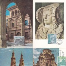 Sellos: TURISMO SERIE TURISTICA 1969 (EDIFIL 1935/38) EN CUATRO TARJETAS MAXIMAS PRIMER DIA.. Lote 156579714