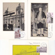 Sellos: FORJADORES DE AMERICA 1969 CHILE (EDIFIL 1939/43) EN CINCO TARJETAS MAXIMAS PRIMER DIA. RARAS ASI.. Lote 156579942
