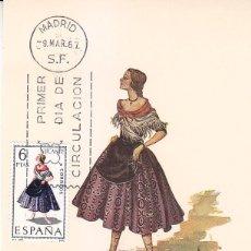 Sellos: TRAJES TIPICOS ESPAÑOLES 1967 TRAJE DE ALICANTE (EDIFIL 1769) EN TARJETA MAXIMA PRIMER DIA DE MF.. Lote 156946514
