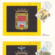 Sellos: L 50 ANIVERSARIO DE LA LEGION 1971 (EDIFIL 2043/46) EN CUATRO TARJETAS MAXIMAS PRIMER DIA MADRID MPM. Lote 165026810