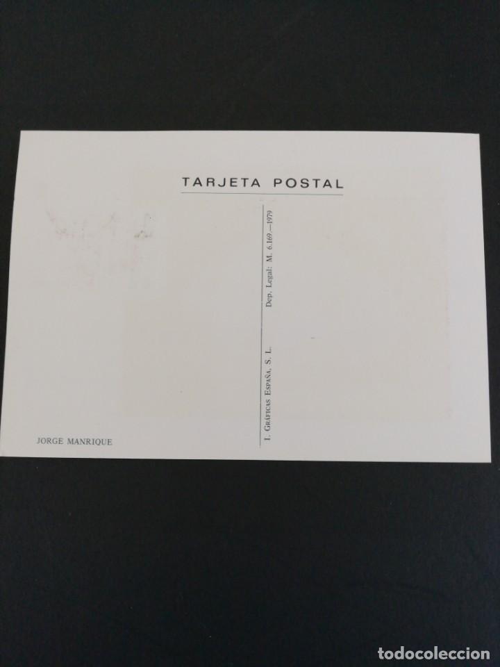 Sellos: Tarjeta con sello. Jorge Manrique. Primer día de circulación. Año 1979 - Foto 3 - 204967481