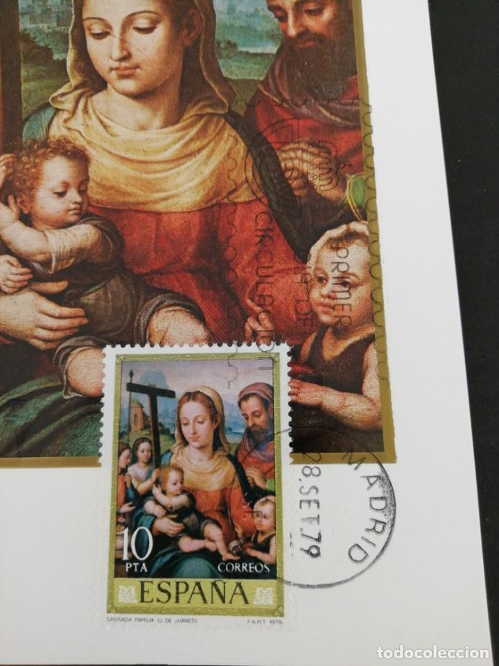 Sellos: Tarjeta con sello, Sagrada familia. Primer día de circulación. Año 1979. - Foto 3 - 204966896