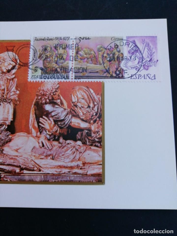 Sellos: Tarjeta con sello, Juan de Juni. Primer día de circulación. Año 1978. - Foto 2 - 167528532