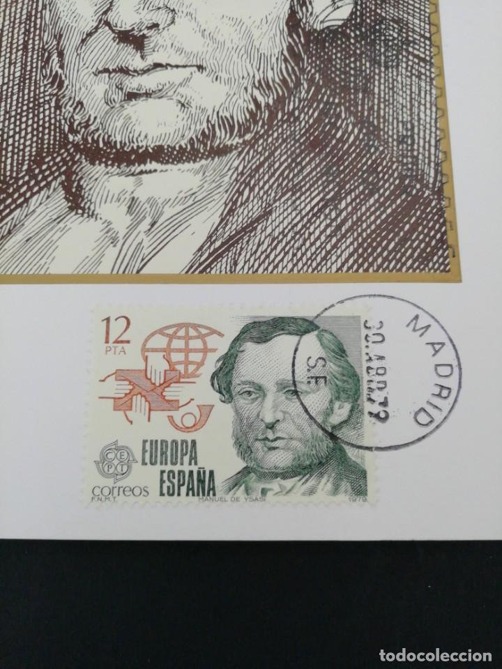 Sellos: Tarjeta con sello, Manuel de Ysasi. Primer día de circulación. Año 1979. - Foto 2 - 204737250