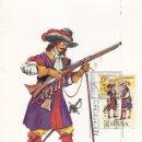Sellos: MOSQUETERO TERCIOS MORADOS 1694 UNIFORMES MILITARES II GRUPO 1974 (EDIFIL 2171) EN TM PD BARCELONA.. Lote 168167432