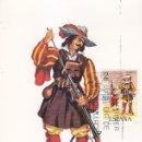 Sellos: ARCABUCERO DE INFANTERIA 1632 UNIFORMES MILITARES II GRUPO 1974 (EDIFIL 2168) EN TM PD BARCELONA.. Lote 168168572