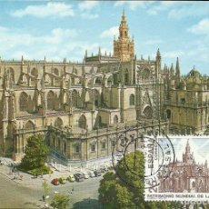 Sellos: TARJETA MAXIMA ESPAÑA DE LA CATEDRAL DE SEVILLA EDIFIL 3148-MONUMENTOS. Lote 168234860