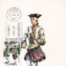 Sellos: TAMBOR REGIMIENTO DE GRANADA 1734 UNIFORMES MILITARES III GRUPO 1974 (EDIFIL 2199) EN TM PRIMER DIA.. Lote 168263000