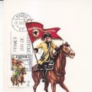 Sellos: PORTAGUION DRAGONES DE NUMANCIA 1737 UNIFORMES MILITARES III GRUPO 1974 (EDIFIL 2200) TM PRIMER DIA.. Lote 168263308