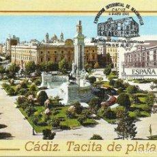 Sellos: TARJETA MAXIMA ESPAÑA ANTIGUA ADUANA DE CADIZ , EDIFIL 2326 - MONUMENTOS. Lote 168274100
