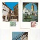 Sellos: TURISMO SERIE TURISTICA 1973 (EDIFIL 2129/33) EN CINCO TARJETAS MAXIMAS PRIMER DIA BARCELONA. RARAS,. Lote 168436148