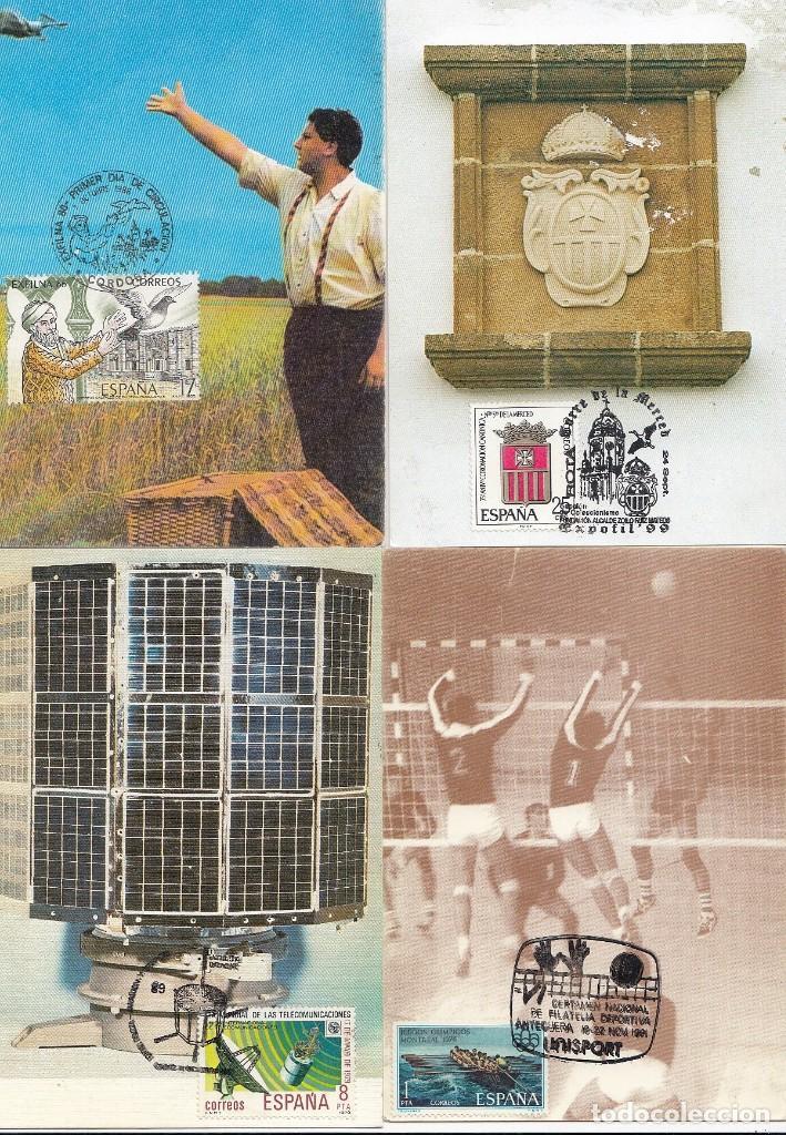 Sellos: Lote de 22 tarjetas de exposiciones filatélicas, tarjetas máximas, etc... - Foto 4 - 170113448