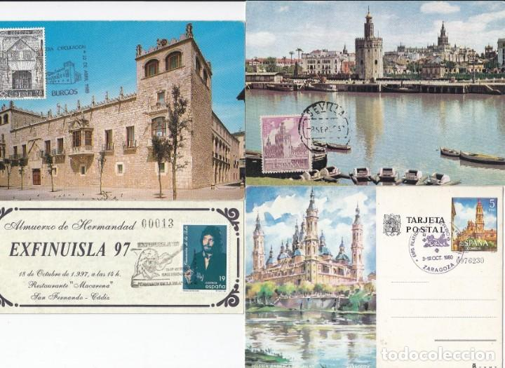 Sellos: Lote de 22 tarjetas de exposiciones filatélicas, tarjetas máximas, etc... - Foto 7 - 170113448