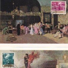 Sellos: PINTURA MARIANO FORTUNY 1968 (EDIFIL 1854/63) EN DIEZ TARJETAS MAXIMAS MATASELLOS EXPOSICION REUS.. Lote 170939930