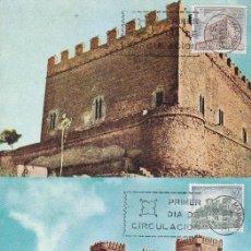 Sellos: CASTILLOS DE ESPAÑA 1967 (EDIFIL 1809/16) EN OCHO TARJETAS MAXIMAS PRIMER DIA. MPM.. Lote 172685628
