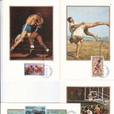 Sellos: XXI JUEGOS OLIMPICOS EN MONTREAL 1976 (EDIFIL 2340/43) CUATRO TARJETAS MAXIMAS PRIMER DIA MADRID MPM. Lote 174309929