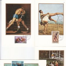 Sellos: XXI JUEGOS OLIMPICOS MONTREAL 1976 (EDIFIL 2340/43) CUATRO TARJETAS MAXIMAS PRIMER DIA BARCELONA MPM. Lote 174309955
