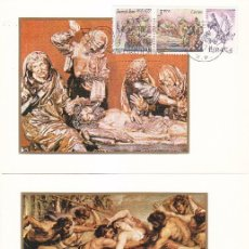 Sellos: PINTURA CENTENARIOS 1978 (EDIFIL 2460/68) NUEVE TARJETAS MAXIMAS PRIMER DIA DIFERENTES BARCELONA MPM. Lote 176413813