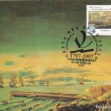 Sellos: 200 AÑOS GESTA 25 JULIO 1797 CENTENARIOS 1997 (EDIFIL 3500) TM PD SANTA CRUZ TENERIFE CANARIAS. RARA. Lote 180261555
