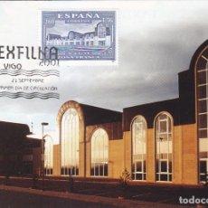 Sellos: EXFILNA 2001 EXPOSICION FILATELICA NACIONAL (EDIFIL 3816) EN TM PD MATASELLOS VIGO (PONTEVEDRA) RARA. Lote 180328977