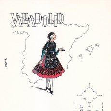 Selos: TRAJES TIPICOS ESPAÑOLES 1971 TRAJE DE VALLADOLID (EDIFIL 2015) EN TARJETA MAXIMA PRIMER DIA ALFIL.. Lote 181906160