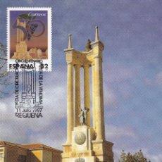 Sellos: VINO VENDIMIA MONUMENTO UNIVERSAL 1997 (EDIFIL 3497) EN TM PD MOD 1 MATASELLOS REQUENA (VALENCIA).. Lote 182347613