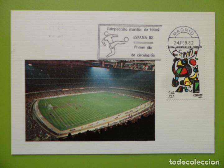 1982-TARJETAS MAXIMAS-SERIE COMPLETA-COPA MUNDIAL DE FUTBOL-ESPAÑA 82 (Sellos - España - Tarjetas Máximas )