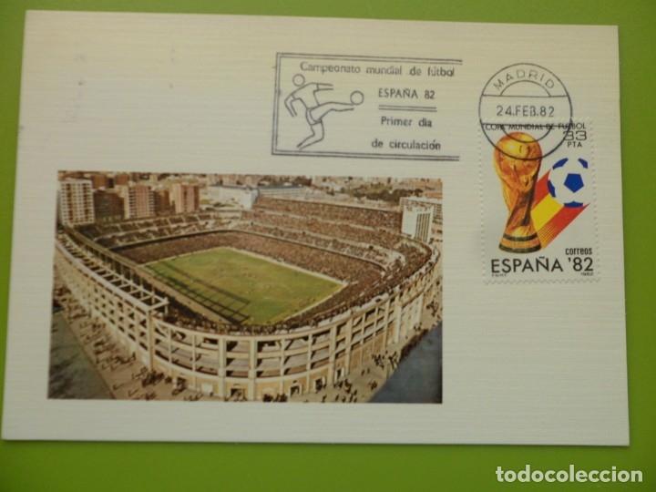 Sellos: 1982-TARJETAS MAXIMAS-SERIE COMPLETA-COPA MUNDIAL DE FUTBOL-ESPAÑA 82 - Foto 2 - 182665183