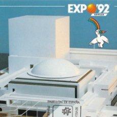 Sellos: PABELLON DE ESPAÑA EXPOSICION UNIVERSAL SEVILLA 1992 (EDIFIL 3155) EN TM PD MOD 2 MATASELLOS SEVILLA. Lote 186012337